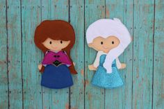 Frozen Sisters Felt Non Paper Doll-- Elsa and Anna by SewSurprisingbyJamie on Etsy, $26.00