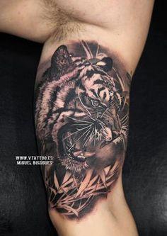 Tigre de bengala V Tattoo - Miguel Bohigues