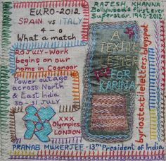 Million Little Stitches - how to make a journal quilt
