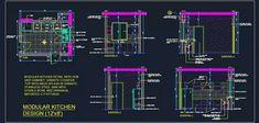 Modular Kitchen Design Detail – All For Decoration Kitchenette Design, Pantry Design, Kitchen Cabinet Design, Kitchen Layout, Autocad, Reception Desk Design, Studio Apartment Layout, Office Organization At Work, Kitchen Modular