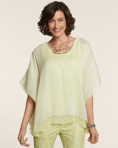 Chico's California Duo Poncho #chicos Can I wear this outfit???