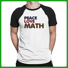 Teeburon PEACE LOVE Math Raglan T-Shirt - Math science and geek shirts (*Amazon Partner-Link)
