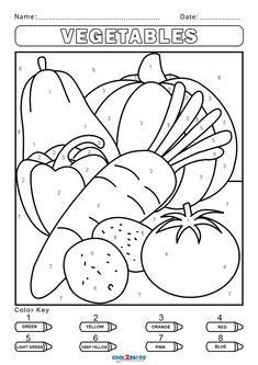 Free Kindergarten Colors, Preschool Colors, Numbers Preschool, Kindergarten Activities, Activity Pages For Kids Free Printables, Free Printable Coloring Pages, Worksheets For Kids, Number Worksheets, Color By Number Printable