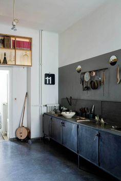 De bijzondere studio van een ontwerper in Milaan