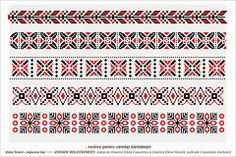 Semne Cusute: romanian traditional motifs - MOLDOVA - Iasi - sat... Cross Stitch Borders, Cross Stitch Designs, Cross Stitch Patterns, Loom Beading, Beading Patterns, Wedding Album Design, Palestinian Embroidery, Folk Embroidery, Paint Designs
