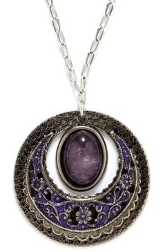 Silver Forest Circle Pendant Necklace by Silver Forest -- Awesome products selected by Anna Churchill