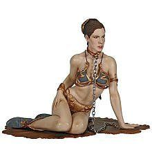 Star Wars: Episode VI: Return of the Jedi Princess Leia As Jabba's Slave Statue Accessory by Gentle Giant. $66.95. Recommended Age: 15 years and up. A Gentle Giant Sculpt! Princess Leia's part of the plan to free Han Solo backfired, and she had to endure the humiliation of being made one of Jabba the Hutt's slaves. She repaid the intergalactic gangster, though, by strangling the Hutt with the very chain that bound her. This Princess Leia As Jabba's Slave Accessor...
