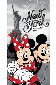 Disney Minnie and Mickey Mouse in New York Bath Towel 70 x 140 cm Arte Do Mickey Mouse, Minnie Mouse Drawing, Mickey Mouse Tattoos, Mickey Love, Mickey Mouse Christmas, Mickey Mouse And Friends, Disney Mickey Mouse, Mickey Mouse Wallpaper Iphone, Cute Disney Wallpaper