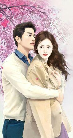 couple, anime, and Enakei image Love Cartoon Couple, Cute Couple Art, Cute Love Cartoons, Anime Love Couple, Romantic Anime Couples, Fantasy Couples, Cute Anime Couples, Anime Love Story, Romantic Drawing