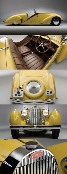 1953 Bugatti Type 57 Grand Raid Roadster - click to see more inspired  vintage prints #Vintage #Cool