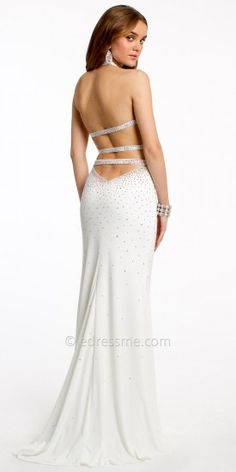 Two Piece Embellished Jersey Prom Dresses by Jovani Exclusive Collection for eDressMe #edressme