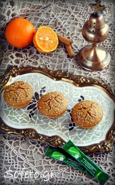Φανουρόπιτα με στέβια και αλεύρι ολικής σε cupcakes