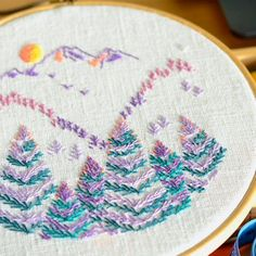 Hand Embroidery Mountain