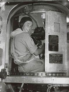 Tail gunner in B-24 Liberator.