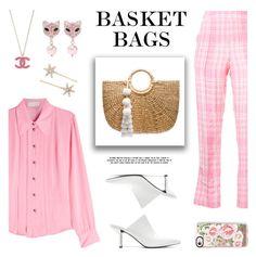 The Last Straw: Basket Bags by lgb321 on Polyvore featuring polyvore fashion style Etro Rosie Assoulin Diane Von Furstenberg JADEtribe Miu Miu Casetify Jennifer Behr clothing polyvoreeditorial basketbags