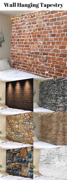Brick Wall Hanging Tapestry | From $8 | Sammydress.com | #WallArt #WallHanging #tapestry