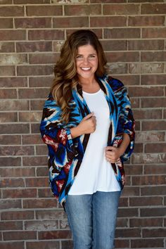 Multi Colored Cocoon Cardigan
