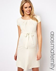 ASOS Maternity Belted Dress With Scoop Neck... website has a lot of cute materinity clothes! Keeping this for later....