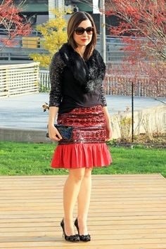 Red, Sparkle and Faux Fur