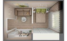 Гостиная-спальня