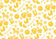 amazing pattern by Lydia Nichols for a mexican-californian inspired wedding website