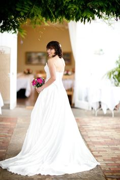 Bride In Conservatory  Bright Flowers St Julians Club