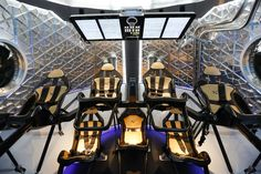 SpaceX  Dragon V2 Space Taxi interior