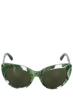 TROPICAL PALM PRINTS // Dolce & Gabbana Banana Leaf Acetate Cat-eye Sunglasses #COOLS