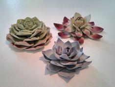 tutorial fondant gumpaste succulents - Google Search