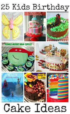 25 kids birthday cake ideas. These birthday cakes are all so cute and creative, and some are really easy too!