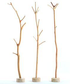 Mantelstock als Garderobe // Wooden clothes rack with branches by neostars via DaWanda.com