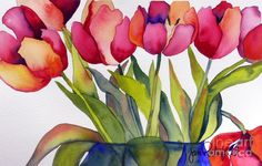 Blooming Tulips Painting by Jeff Friedman, on FineArtAmerica