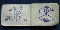 Semamori, symbols sewn on the back of children's clothing for special wishes. SemamoriCho03b