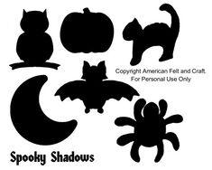 Easy Halloween templates for felt bean bags - please do not pin templates.
