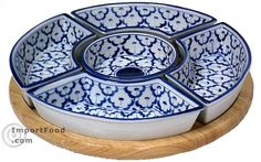Handpainted Thai Ceramic Lazy Susan