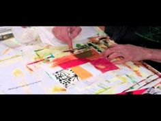 Very speedy collage demo by Jane Davies