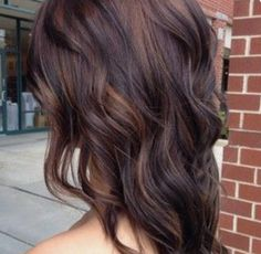 Dark hair-natural highlights