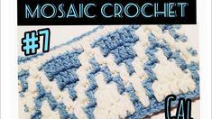 Mosaic Crochet Along-Pattern 7 easy beginner friendly tutorial Free Crochet Bag, Crochet Chart, Easy Crochet, Knit Crochet, Easy Mosaic, Crochet Patron, Crochet Afgans, Manta Crochet, Crochet Stitches Patterns