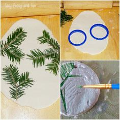 Pine Stamped Salt Dough Ornaments - Easy Peasy and Fun