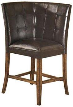 Ashley Furniture Signature Design Lacey Corner UPH Barstool Medium Brown Finish