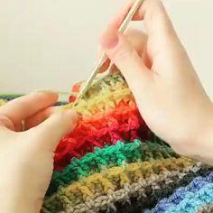 Crochet Borders, Crochet Stitches Patterns, Crochet Squares, Crochet Designs, Crochet Doilies, Baby Cardigan Knitting Pattern, Knitting Stiches, Crochet Sole, Knit Crochet