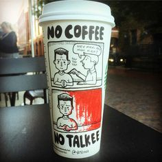 Starbucks Cartoon – Un illustrateur dessine ses blagues sur des gobelets jetables