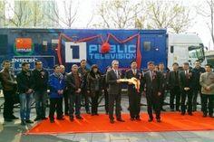 China realizó la donación de tres estaciones de televisión móviles en una ceremonia en Beijing.