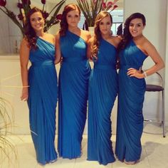 Love these for bridesmaid dresses... But with a different color