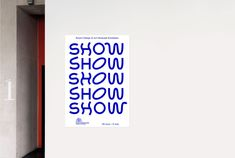 Royal College of Art – SHOW Exhibition Identity by Sakaria Studio #InspoFinds