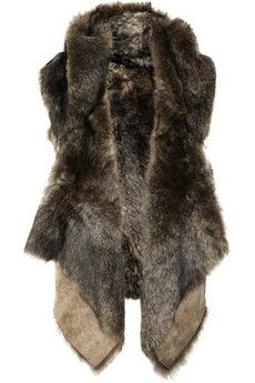 I would wear this - Donna Karan | Longhair shearling vest | NET-A-PORTER.COM - StyleSays