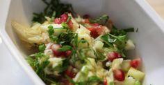 King krab salade met komkommer en groene appel
