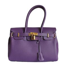 Petite Designer Style Purple Leather Handbag - Down to £34.99 from £54.99