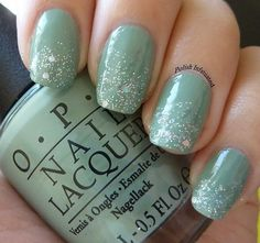 Sea Foam green Nails