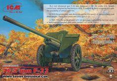 76,2 mm F-22 WWII Soviet Divisional Gun – ICM 35702